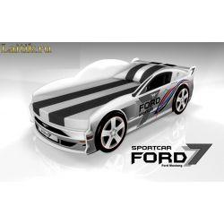 Кровать-машина «Форд Мустанг 2» с выдвижным спальным местом