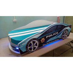 Кровать-машина «Мустанг Полиция» с выдвижным спальным местом