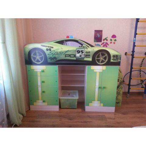 Кровать-чердак «Police Ferrari»