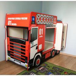 Двухъярусная кровать «Пожарная 01»