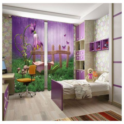 Фотошторы «Цветочный душ»