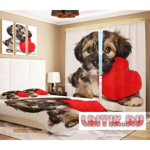 Фотошторы «Собака с сердцем»