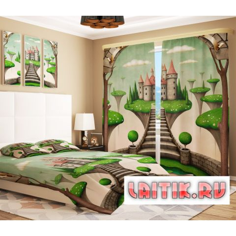 Фотошторы «Зеленый замок»