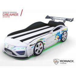 Кровать-машина «Dreamer 2018», матрас на выбор, 7 цветов