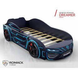 Кровать-машина «Dreamer», матрас на выбор, 7 цветов
