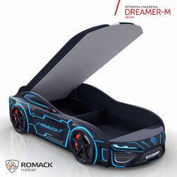 Кровать-машина «Dreamer-M» с матрасом, 3 цвета