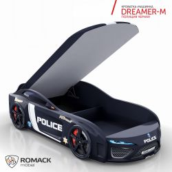 Кровать-машина «Dreamer-M Полиция» с матрасом, 2 цвета