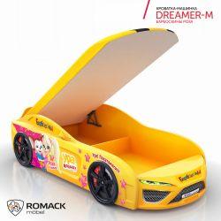 Кровать-машина «Dreamer-M Барбоскины Роза» с матрасом, 2 цвета