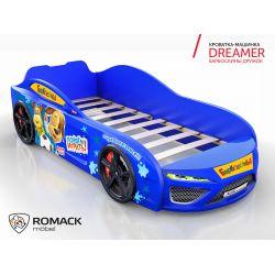 Кровать-машина «Dreamer Барбоскины Дружок», матрас на выбор, 5 цветов