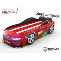 Кровать-машина «Dreamer супергерой», матрас на выбор, 4 расцветки
