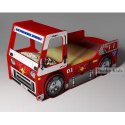 Кровать-грузовик «Пожарная машина»