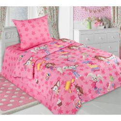 Комплект детского постельного белья «Барбоскины - Роза» (бязь)