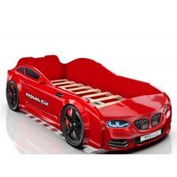 Кровать-машина «Romack Real - BMW», матрас на выбор, 5 цветов