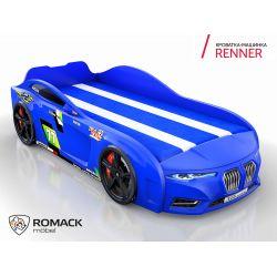 Кровать-машина «Renner 2018», матрас на выбор, 5 цветов