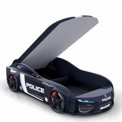 Кровать-машина «Berton Big Полиция» с матрасом, 2 цвета