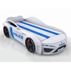 Кровать-машина «Berton - Полиция», матрас на выбор, 2 цвета