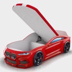 Кровать-машина «Romeo-M» с матрасом и ящиком, 5 цветов