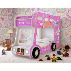 Двухъярусная кровать «Школьный автобус Люкс» для девочек