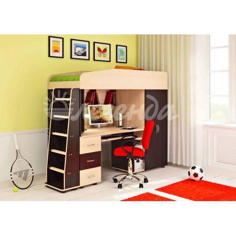 Размер - 225,2x84,6x171,6 см (ШxГxВ), спальное место - 180x80 см, допустимая нагрузка на спальное место - 80 кг. Материал - ЛДСП, 16 мм (класс эмиссии - Е1)