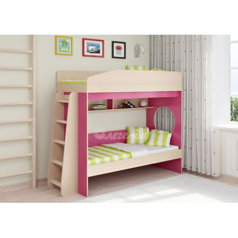 Размер - 224,4х84,6х167,5 см (ШxГxВ), спальное место - 180x80 см. Материал - ЛДСП, 16 мм (класс эмиссии - Е1)