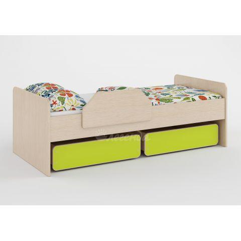 Размер - 164,4×75,4×54,4 см (ШxГxВ), спальное место - 160x70 см, допустимая нагрузка на спальное место - 80 кг. Материал - ЛДСП, 16 мм (класс эмиссии - Е0,5)