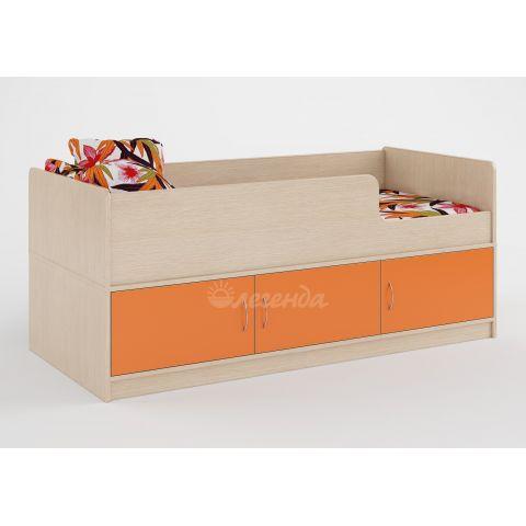 Размер - 164,6×75×68,4 см (ШxГxВ), спальное место - 160x70 см, допустимая нагрузка на спальное место - 80 кг. Материал - ЛДСП, 16 мм (класс эмиссии - Е0,5)