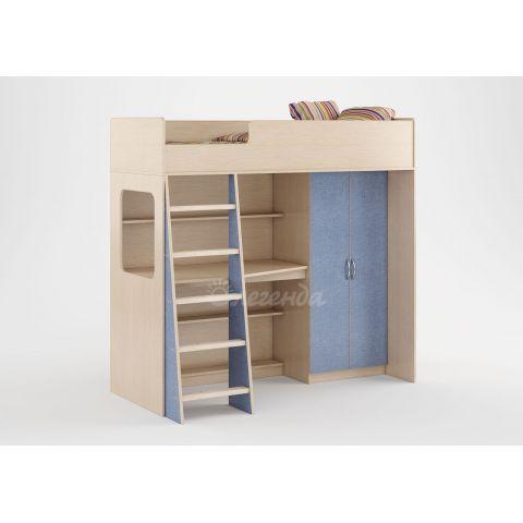 Размер - 178,6×96,6×168,6 см (ШxГxВ), спальное место - 175x70 см, допустимая нагрузка на спальное место - 80 кг. Материал - ЛДСП, 16 мм (класс эмиссии - Е0,5)
