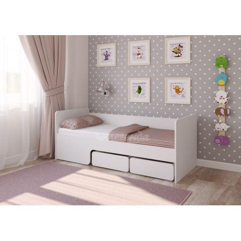 Размер - 178,6×75,4×67,8 см (ШxГxВ), спальное место - 175x70 см, допустимая нагрузка на спальное место - 80 кг. Материал - ЛДСП, 16 мм (класс эмиссии - Е0,5)