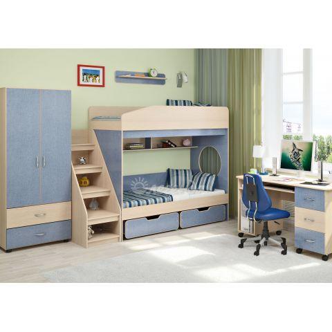 Размер - 313,0x217,0x185,2 см (ШxГxВ), спальное место - 180x80 см, допустимая нагрузка на спальное место - 70 кг. Материал - ЛДСП, 16 мм (класс эмиссии - Е1)