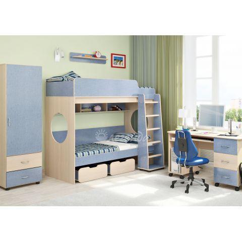 Размер - 255,2x114,6x185,2 см (ШxГxВ), спальное место - 190x80 см, допустимая нагрузка на спальное место - 70 кг. Материал - ЛДСП, 16 мм (класс эмиссии - Е1)
