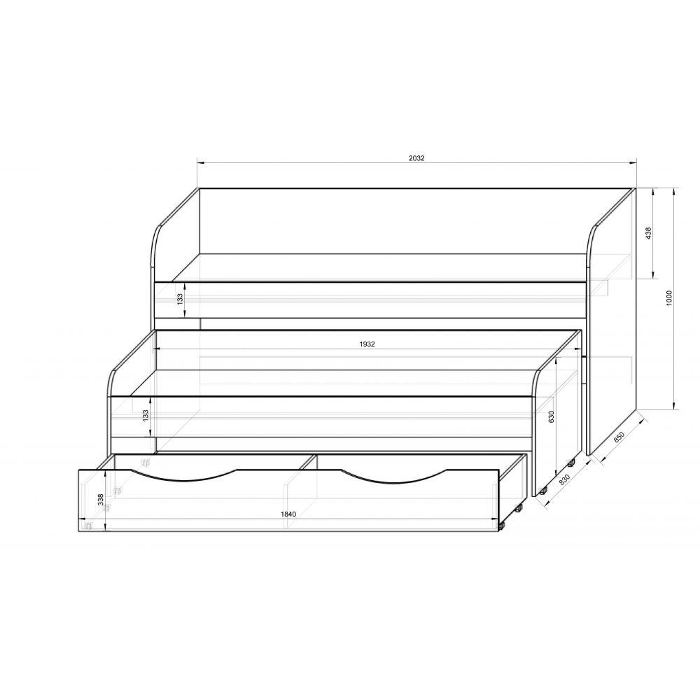 Кровать с выдвижным спальным местом своими руками чертежи 56