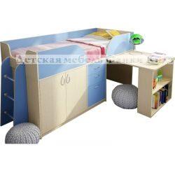 Кровать-чердак низкая «Фанки Кидз 10 СВ»