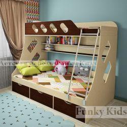 Детская двухъярусная кровать «Фанки Кидз 16 СВ»
