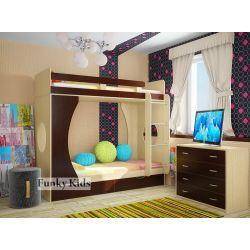 Детская двухъярусная кровать «Фанки Кидз 2 СВ»