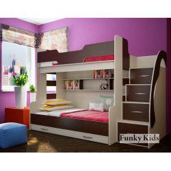 Трехъярусная кровать «Фанки Кидз 21 СВ»