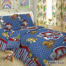 Комплект детского постельного белья «Щенячий патруль» (поплин)