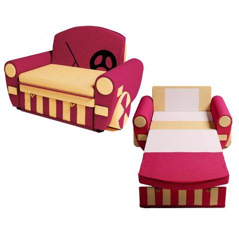 Размер - 130x80x93 см (ШxГxВ), в разложенном виде длина дивана - 200 см, спальное место: 188x86 см см. Материал - массив дерева + фанера + хдф, ЛДСП 16 мм (Эггер, Австрия), ткань астра велюр или кабрио. Наполнитель - ППУ, 6 см. Металлические крепления