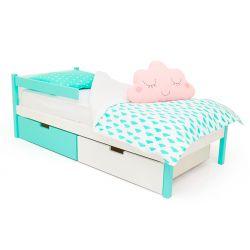 Деревянная кровать-тахта «Skogen мятно-белый»