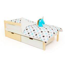 Деревянная кровать «Skogen classic бежево-белый»