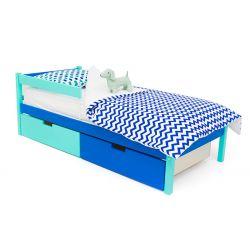 Деревянная кровать «Skogen classic мятно-синий»