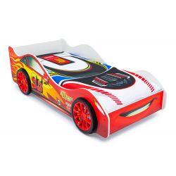Кровать-машина «Тачка» красная с подъемным механизмом