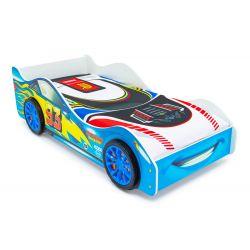 Кровать-машина «Тачка» синяя с подъемным механизмом