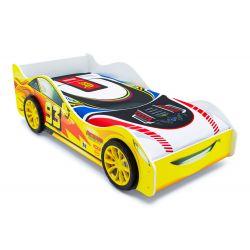 Кровать-машина «Тачка» желтая с подъемным механизмом