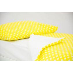 Детское постельное белье «Горох, фон желтый» (бязь)
