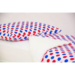 Детское постельное белье «Круги красный, синий» (бязь)