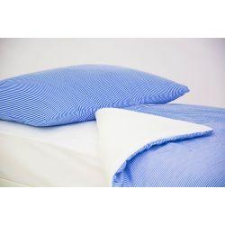 Детское постельное белье «Полоски синие» (бязь)
