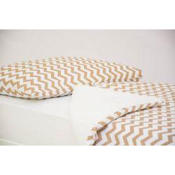 Детское постельное белье «Зигзаги бежевые» (бязь)