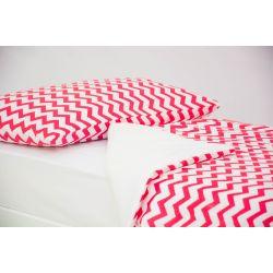 Детское постельное белье «Зигзаги красные» (бязь)