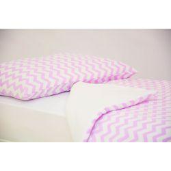 Детское постельное белье «Зигзаги лаванда» (бязь)