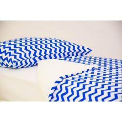 Детское постельное белье «Зигзаги синие» (бязь)